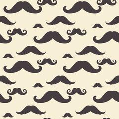 Vintage Mustaches Pattern