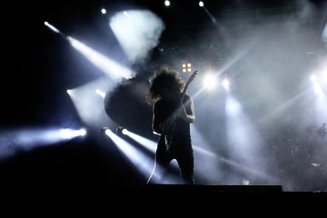 Guitarist on the stage