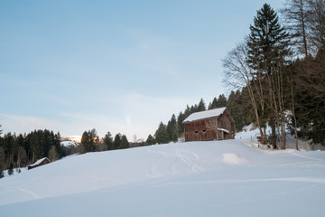 Swiss Winter - Hut in the forest