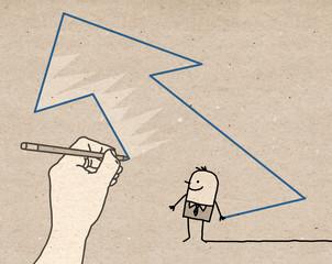 Big Hand - direction arrow
