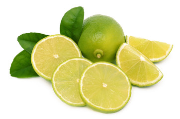 fresh ripe lime