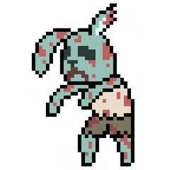 pixel art rabbit zombie