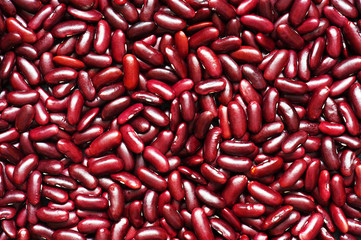 Background of the ripe red beans