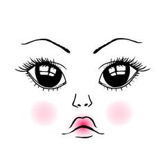 Doll cute face