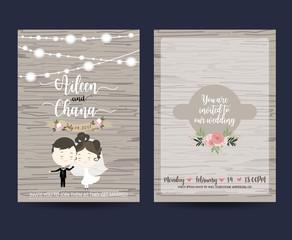 Wedding template collection for banners,Flyers,Placards with flo