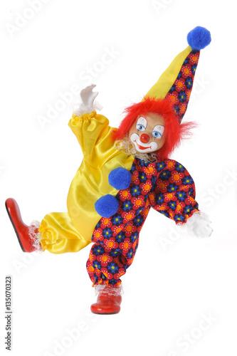 lustiger clown mit kost m als freisteller stockfotos und lizenzfreie bilder auf. Black Bedroom Furniture Sets. Home Design Ideas