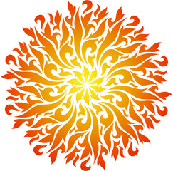 Vector abstract decorative fire mandala