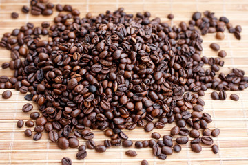 Roasted coffee beans, can be used as background