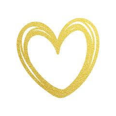 Love Valentine heart gold glitter vector