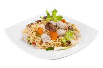 spicy noodle salad - instant noodle