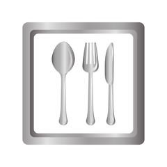 Gray picture cutlery icon design, vector illustration