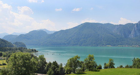 Amazing view of Mondsee, Austria
