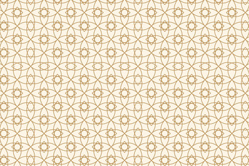 Beige abstract seamless geometric pattern. Vector illustration