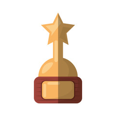 cartoon golden award trophy movie industry vector illustration eps 10