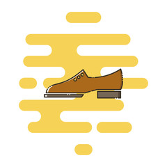 Brogue shoes color thin line icon. Mbe minimalism style