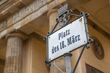 Platz des 18. März, Berlin, Deutschland