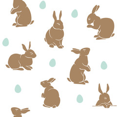 Rabbit pattern easter white