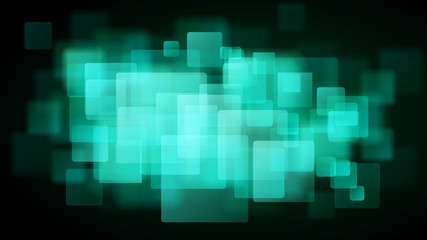Turquoise abstract background of blurry squares