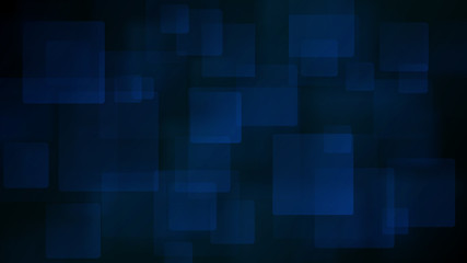 Blue abstract background of blurry squares