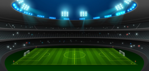 soccer football stadium spotlight