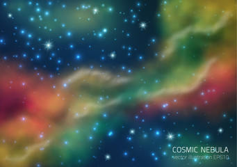 Space Background With Stars And Nebula.