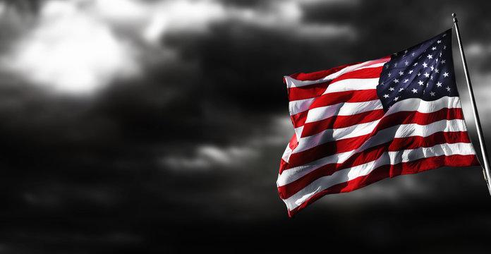depressed american flag