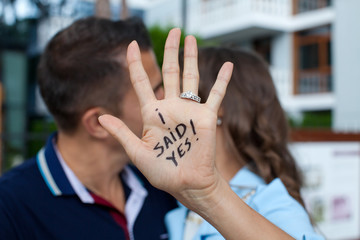 Proposal in the street.