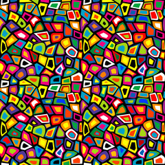 Colorful mosaic seamless