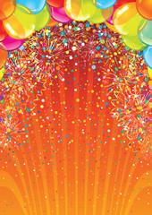 Celebration Birthday Backdrop. Vector Image