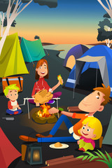 Family Camping Outdoor