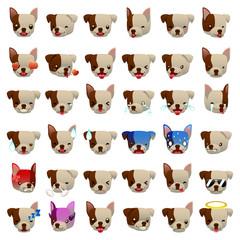Pitbulls Dog Emoji Emoticon Expression
