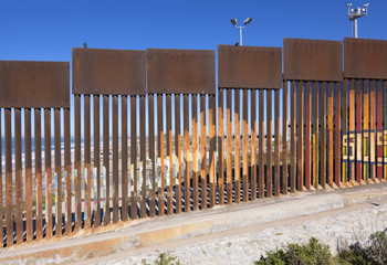 Border wall in Tijuana, Mexico