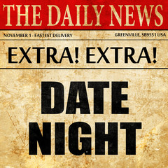 date night, newspaper article text