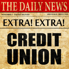 credit union, newspaper article text