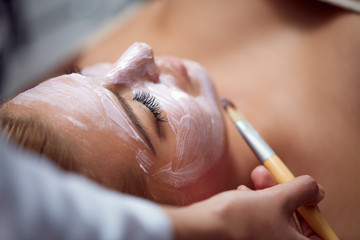 Cosmetic mask at spa salon