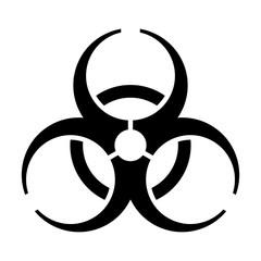 Biohazard / biological hazard warning sign or symbol flat vector icon for apps and websites