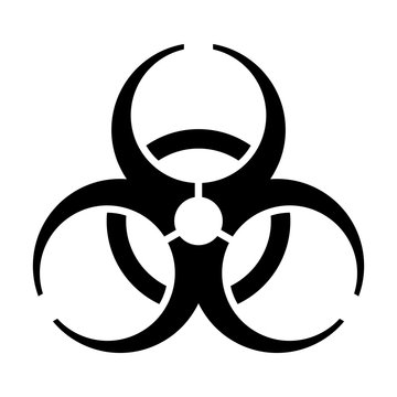 Biohazard / biological hazard warning sign or symbol flat vector icon for apps and websites