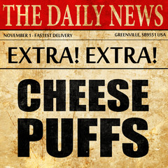 cheese puffs, newspaper article text