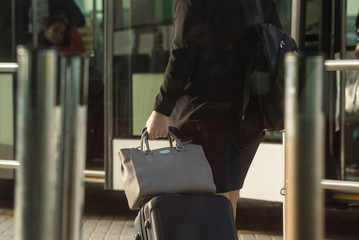 Close up photograph of baggage