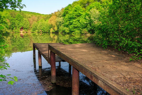pier on forest Lake