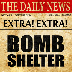 bomb shelter, newspaper article text
