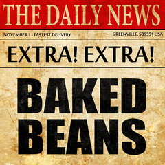 baked beans, newspaper article text