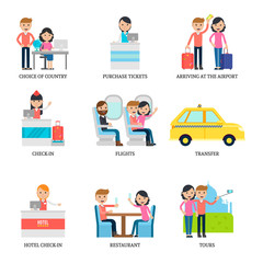 Family Vacation Infographic Concept