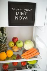 Reminder board on fridge