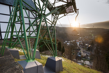 cableway in historic town burg near solingen germany