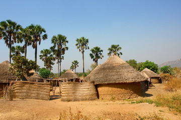 Obraz Traditional village in Cameroon  - fototapety do salonu
