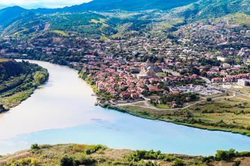 The confluence of the rivers Kura and Aragvi (Mtskheta) in Georg