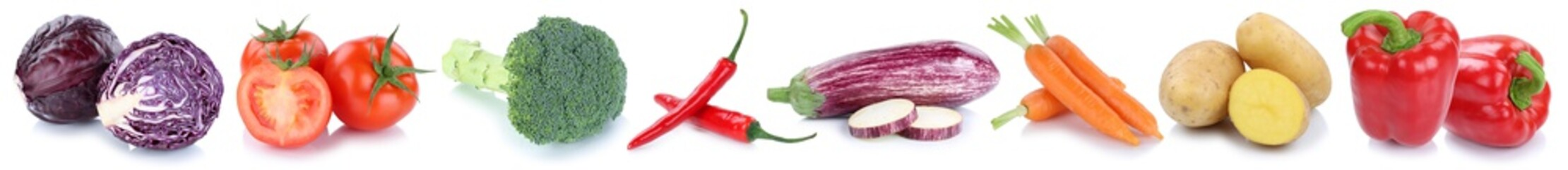 Keuken foto achterwand Verse groenten Gemüse Kartoffeln Karotten frische Tomaten Freisteller freigest