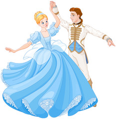 Papiers peints Magie The Ball Dance of Cinderella and Prince