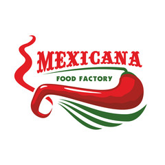 Chili pepper for mexican restaurant food icon